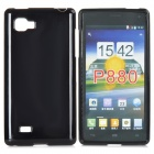 Protective TPU Soft Back Case for LG P880 Optimus 4X HD - Black