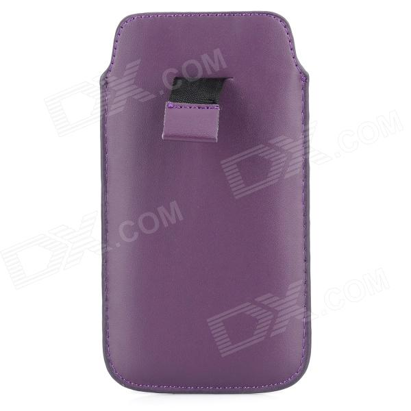 Protective PU Leather Pouch Case for Samsung i9295 - Purple