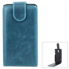 Protective PU Leather + Plastic Case for LG Optimus L7 II - Blue + Black