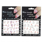 XF12741275 Stylish DIY Nail Art Decorative Stickers - Black + Purple + Red (2 PCS)