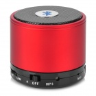 S10 Mini Portable Bluetooth V3.0 Stereo MP3 Speaker w/ Mic / TF / Mini USB - Red + Black + Silver