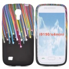 Meteor Pattern Protective Silicone Back Case for Samsung Galaxy S4 Mini i9190 - Multicolored
