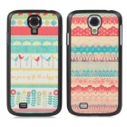 Couple Lovers Protective Plastic Back Case for Samsung Galaxy S4 i9500 - Red + Blue + Yellow (2 PCS)