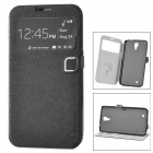 HELLO DEERE Protective PU Leather Case w/ Display Window / Stand for Samsung i9200 - Black