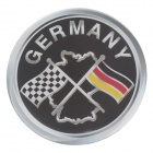 5.6cm Cool Germany Flag Style Car Sticker - Black + White + Yellow + Red