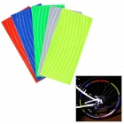 Reflective Sticker Strip Band for Bike / Car - Multicolored (5PCS)