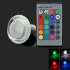GU10 3W RGB LED Lamp w/ 24-Key Remote Controller (85~265V)