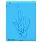 3D Skeleton Hand Pattern Protective Soft Silicone Case for Ipad 4 - Light Blue