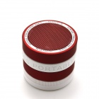 Portable Speaker Supper Bass Bluetooth V2.1 + EDR Speaker w/ TF / FM / Microphone - White + Red