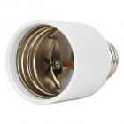 E27 Male to E40 Female Light Bulb Plug Converter - White + Silver (AC 100~250V)