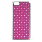 Protective Rhinestone Starry Style Back Case for Iphone 5C - Purple + Silver
