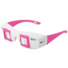 Side-by-Side Stereo 3D Glasses for Computer / TV / Projector - White + Deep Pink