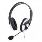XBOXHS18 Stylish Stereo Headphones w/ Microphone for Xbox 360 - Black (2.5mm Plug / 1.2m)