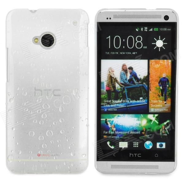 все цены на Water Drop Pattern Protective Plastic Back Case for HTC ONE(M7) - White + Transparent онлайн