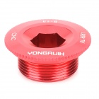 Yongruih Aluminum Alloy Crank Cover Bottom Bracket Screw for Bicycle - Red