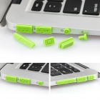 Enkay Universal Tapones anti-polvo para MacBook Pro con Retina Display / MacBook Air - Green (10 PCS)