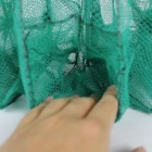 Folding Nylon Fishing Net Cage - Green