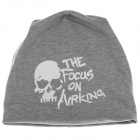 Stylish Skull Soft Hat Cap - Grey + White