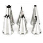 Stainless Steel Baking Cake Decoration Framed Flower Tool Set (6 PCS)