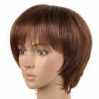 rs042-m830 Fashion Boy Style Short Sily Straight Wig for Women - Brown