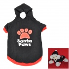 Cotton Pet Apparel Clothes for Dog - Black + Red + White (Size L)