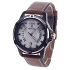 Daybird 3785 Unisex Quartz Wrist Watch w/ Hollow Calendar - Brown + Black + White (1 x LR626)