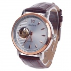 Daybird 3772 Double-Sided Skeleton Automatic Unisex Analog Wrist Watch - Brown + Golden + Silver