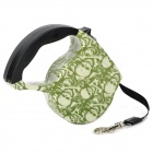 Skull Pattern Retractable Pet Dog Strap Leash w/ Control Button (4.53m)
