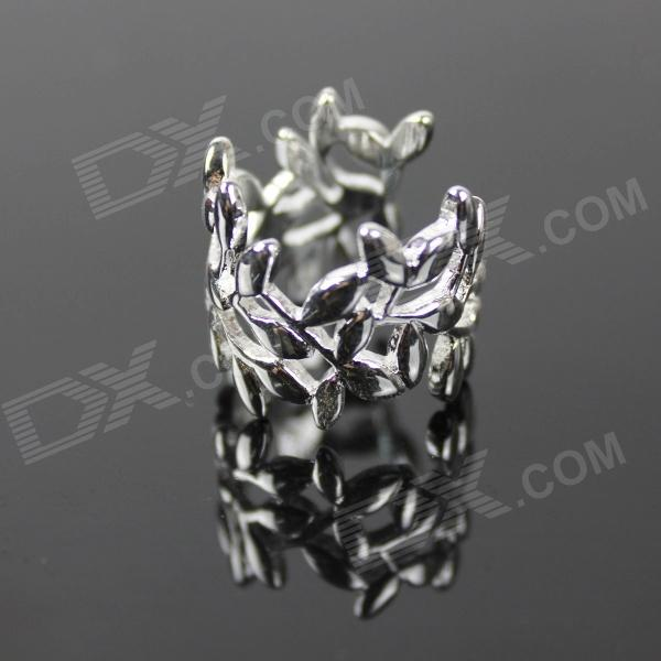 925 Leaf Style Silver Ring for Women - Silver