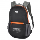 NatureHike-NH Folding Water Resistant Nylon Double-Shoulder Bag Backpack - Black + Orange + Grey