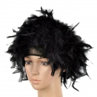 Fire Chicken-Feather Wig for Halloween / Costume Party - Black