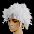 Fire Chicken-Feather Wig for Halloween / Costume Party - White