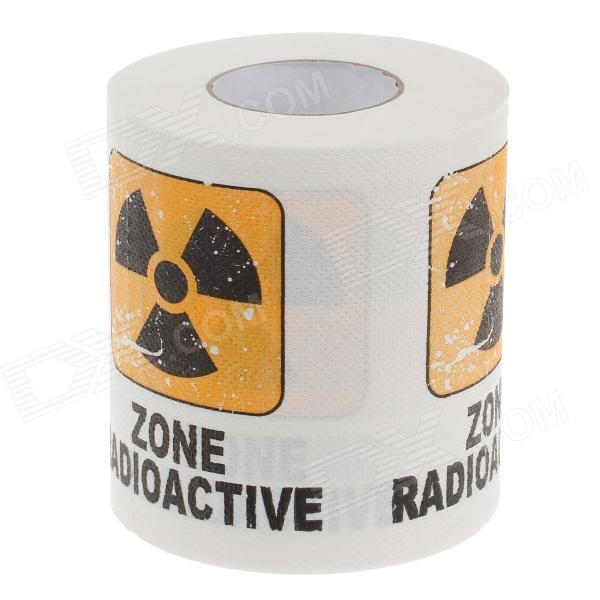 Novelty Laser Pattern Toilet Paper 3-Layer Roll Tissue - White + Black + Yellow