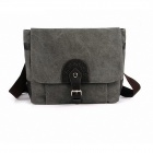 ManJiangHong Men's Casual Diagonal Canvas Bag - Grey