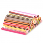 40-in-1 Cookies & Sugar Pattern DIY Polymer Clay Decoration Strips Set - Multicolored