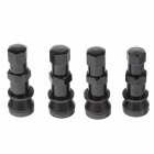Universal Aluminum Alloy Tire Valve Caps - Black (4 PCS)
