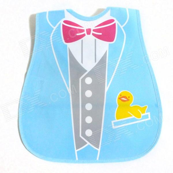 Suit Tie Pattern Waterproof Bib - Multicolored