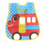 Bus Pattern Waterproof Bib - Multicolored