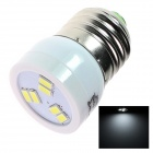 TZY S8 E27 2.5W 180lm 6500K 6SMD 5630 Cold White Energy Saving Bulb