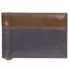 4418 High Grade Head layer Cowhide Folding Men's Wallet - Grey + Coffee + Red