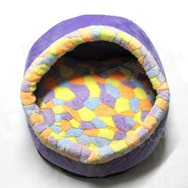 Soft Comfortable Pet Nest - Purple + Yellow + Orange + Blue