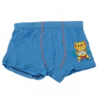 Cute Cartoon Pattern Soft Modal Fabric Boy's Boxers Brief Underwear -Blue ( Free Size)
