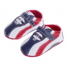 Fashion Interval Color Baby Shoes - Blue + White + Red (0~6 Months / Pair)