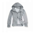Fashionable Leisure Hooded Cardigan for Men -Grey (Size-XL)