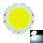 10W 1000lm 6500K COB LED White Light Round Module - Silver + Yellow (32~36V)