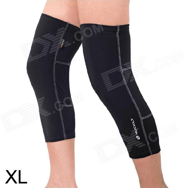NUCKILY KE002 Sporty Anti-UV Elastic Knee Support Protector for Cycling - Black (XL / Pair) - DXCycle Clothing<br>Brand NUCKILY Model KE002 Quantity 2 Color Black Material 80% Nylon + 20% spandex Size XL Gender Unisex Best use cycling Suitable for Adults Length 0 cm Shoulder Width 0 cm Chest Girth 0 cm Suitable for Height 150~190 cm Packing List 2 x Knee supports<br>