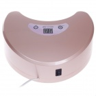 Portable 18W LED + UV Light Phototherapy Lamp Quick Nail Gel Dryer - Light Pink (2-Round-Pin Plug)