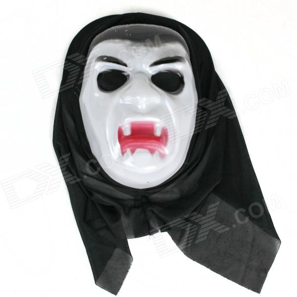 Halloween Vampire Mask - White + Black + Red halloween vampire mask white black red