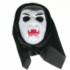 Halloween Vampire Mask - White + Black + Red