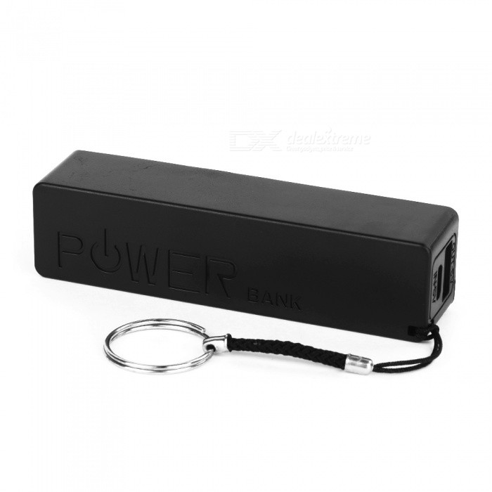 2600mAh External Battery Mobile Power Bank for Samsung / HTC - Black + White